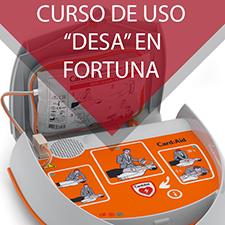Curso de uso del desfibrilador semiautomático en Fortuna